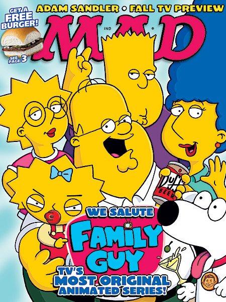 La guerre des dessins animés (Simpsons VS Family Guy VS SouthPark)