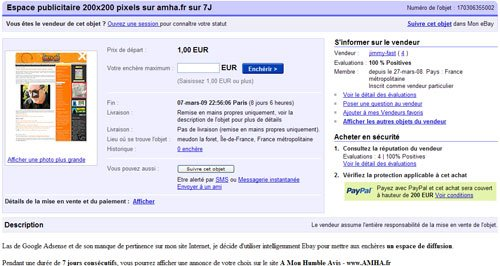 Et si Ebay devenait une régie publicitaire ?