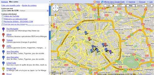 La carte du Geek : G33K MAP