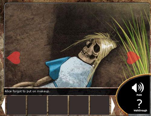 Alice is dead : un petit jeu flash point & clic