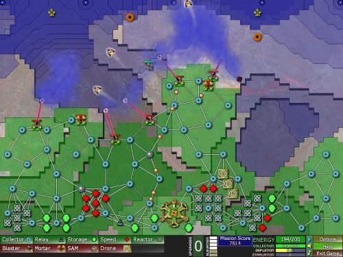 Creeper World : jeu de stratégie en flash