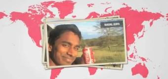 Il boit du Coca-Cola dans le monde entier – #CokeAroundTheWorld