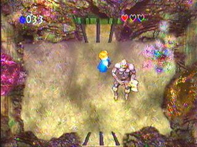 """Screeshot du jeu """"Zelda's Adventure"""""""