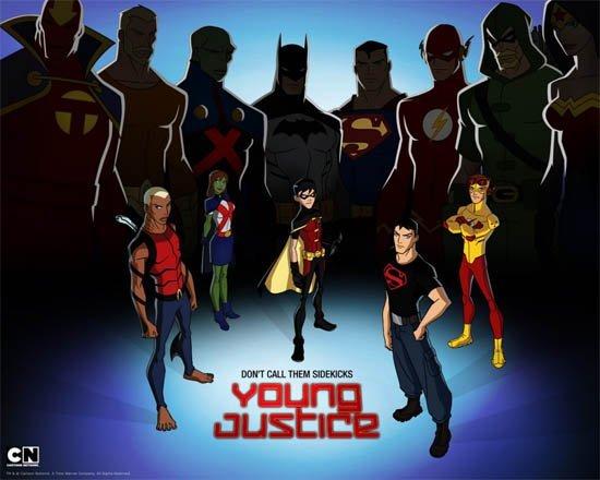 Young justice dessin animé serie JLA