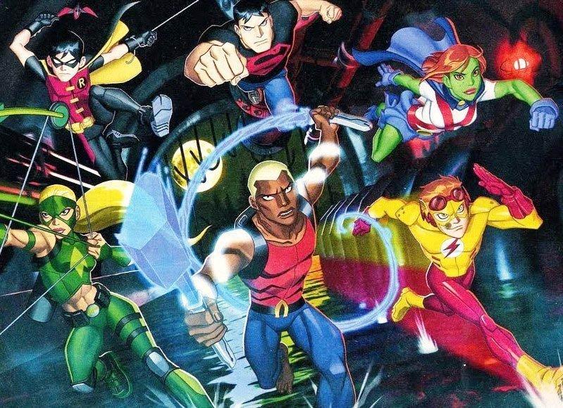 Young justice dessin animé serie JLA 2