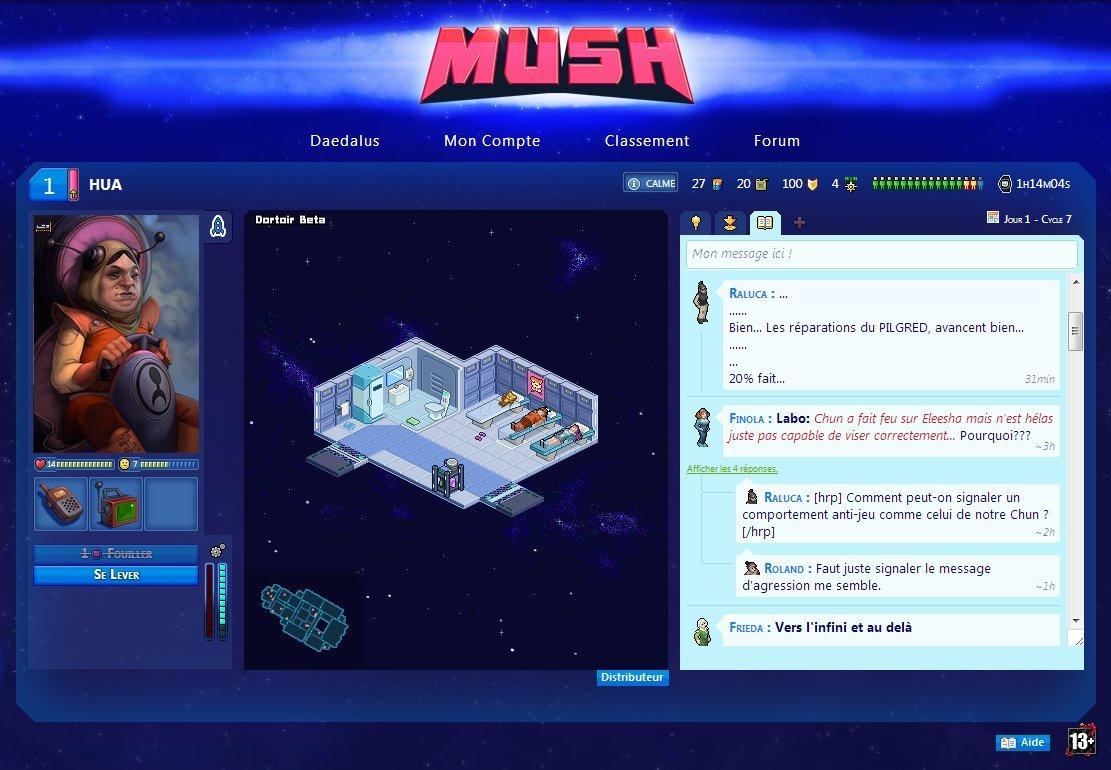 Mush, le jeu de navigateur qui augmente votre productivité #2