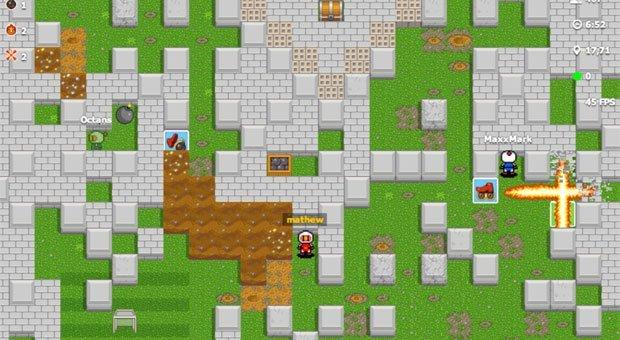 Bombermine - un Bomberman multijoueur en ligne