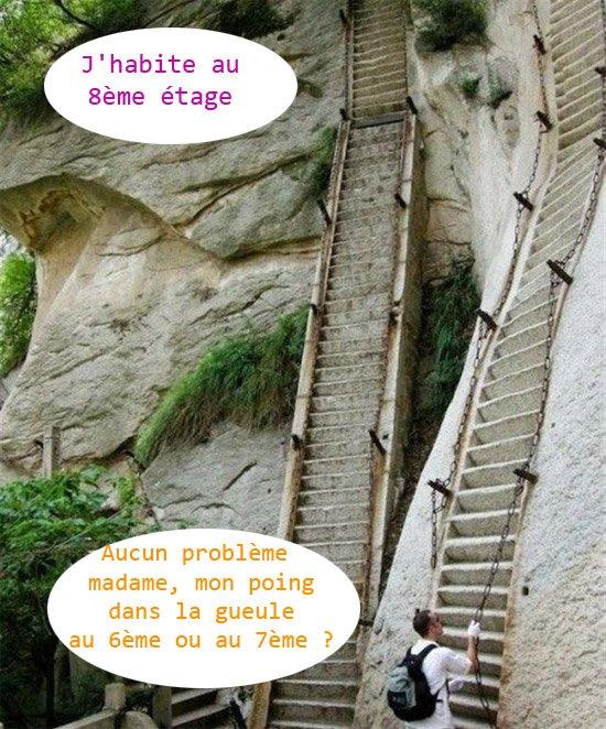 escaliers de la mort qui tue