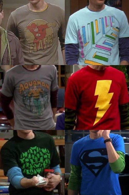 Les TeeShirts de Sheldon (The Big Bang Theory)