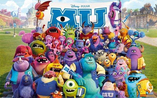 Monstres Academy Pixar Disney