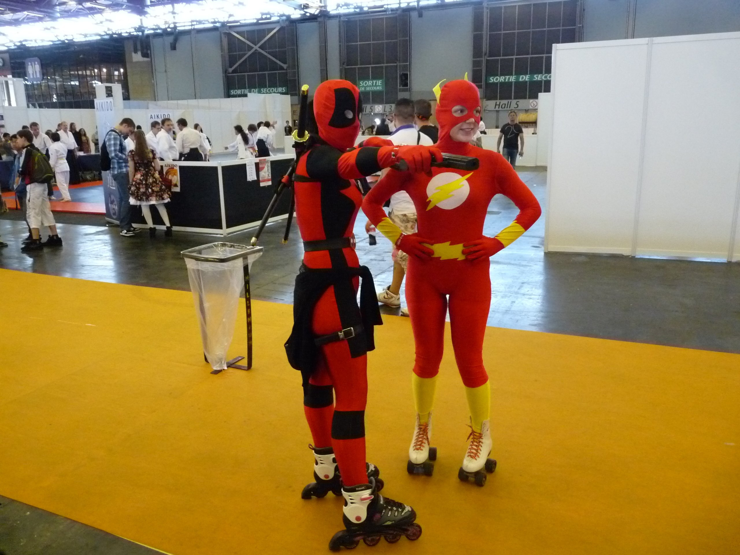 lady deadpool and flash - Japan Expo 2013