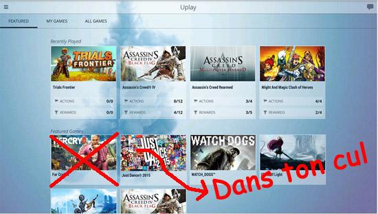 Ubisoft bannit de Uplay les jeux achetés à l'étranger - Quand la devise, divise !