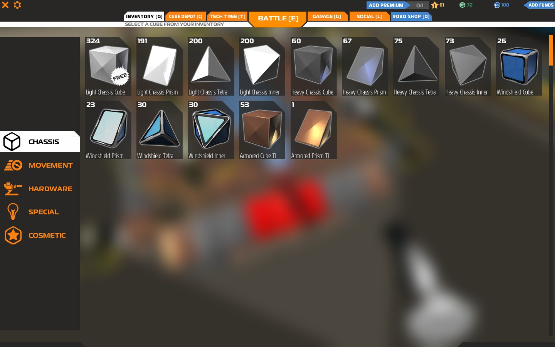 Vous avez accès à des centaines d'éléments différents pour construire votre véhicule