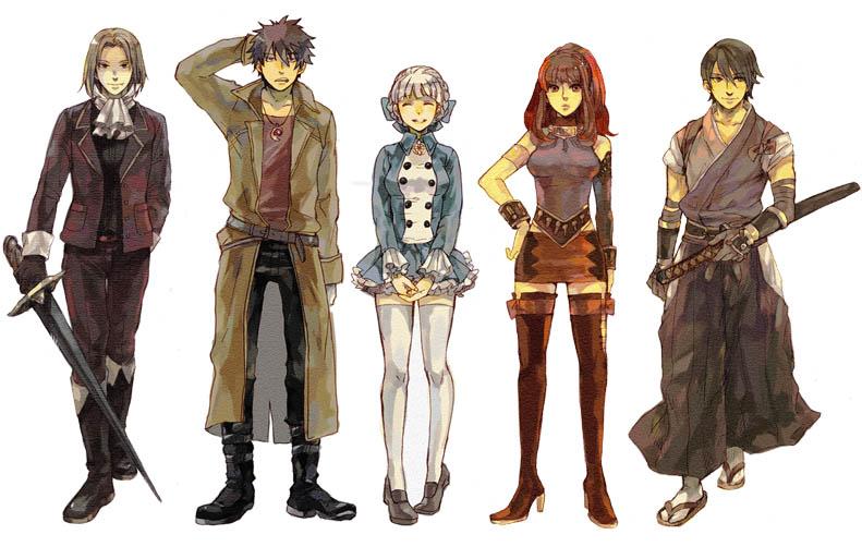 Quelques uns des personnages de Shadow Hearts