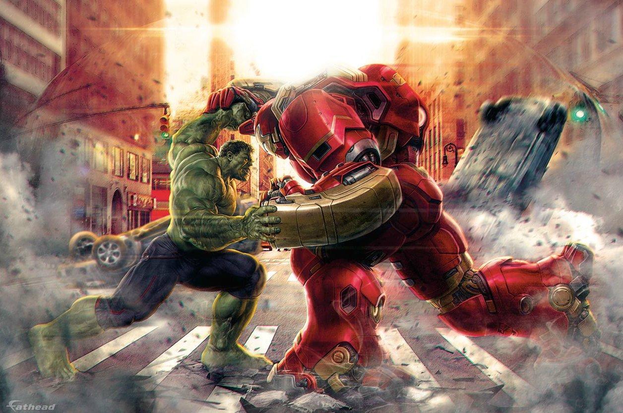 Hulk vs Iron Man dans son armure Hulkbuster