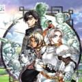 La jaquette de Suikoden 3 avec les trois héros