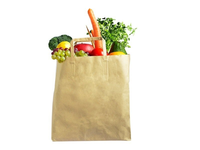 sac papier courses