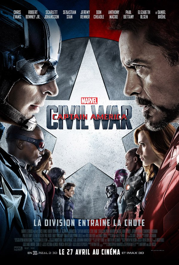 affiche captain america 3 civil war