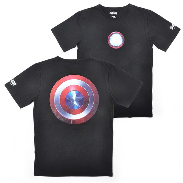 captain america iron man tshirts