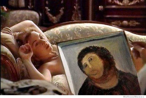 Meme titanic peinture jesus