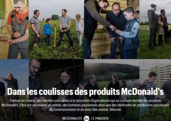 Mcdonald s charte environnement agriculture